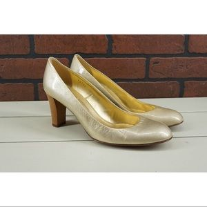 J. CREW Made in Italy Pumps Size 9 Gold Metallic